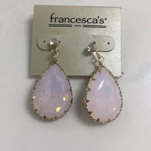Light Pink tear drop earrings Francesca's New